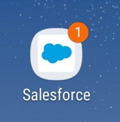 セールスフォースアプリの通知設定
