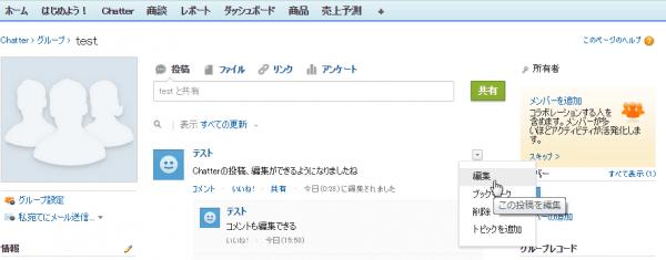 SnapCrab_グループ test ~ Salesforce - Unlimited Edition - Google Chrome_2015-7-3_16-2-3_No-00