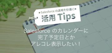 Salesforceのカレンダーに完了予定日とかアレコレ表示したい!